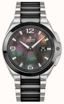 Junghans Spektrum女士|不锈钢/黑色表带| 015/1500.44