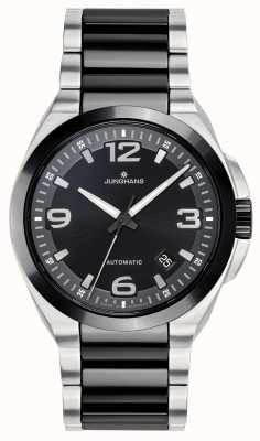 Junghans Spektrum |自动|黑色/银色陶瓷钢手链 027/1500.44