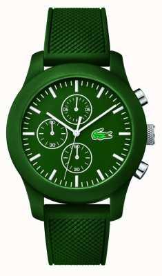 Lacoste 男装12.12 chrono绿色橡胶表带绿色表盘 2010822