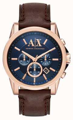 Armani Exchange 男士蓝色深棕色计时码表 AX2508