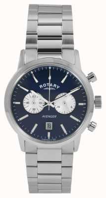 Rotary 男士复仇者不锈钢蓝色表盘 GB02730/05