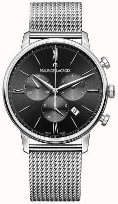 Maurice Lacroix 男士milanais不锈钢黑色表盘 EL1098-SS002-310-1