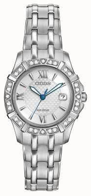 Citizen 生态驱动的28钻石不锈钢 EW2360-51A