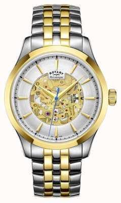 Rotary 男士双色调表带镀金表壳 GB05033/06
