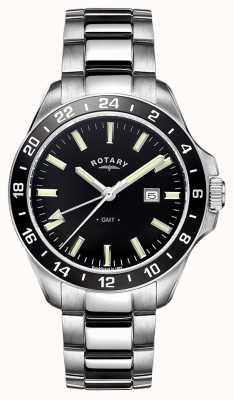 Rotary 男士哈瓦那不锈钢gmt GB05017/04