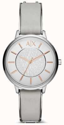 Armani Exchange 女士奥利维亚皮革表带手表 AX5311