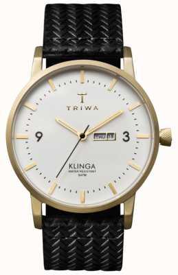 Triwa 中性白色表盘klinga配皮革表带 KLST103-GC010113