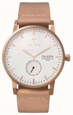 Triwa 中性白色表盘皮革表带玫瑰福肯 FAST101-CL010614
