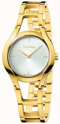 Calvin Klein 女装类镀金白色表盘 K6R23526