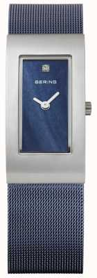 Bering 女式矩形蓝色表盘 10817-307