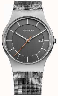 Bering 男士灰色表带灰色表盘 11938-007