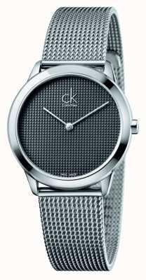 Calvin Klein 最小网眼手链黑色表盘 K3M2212X