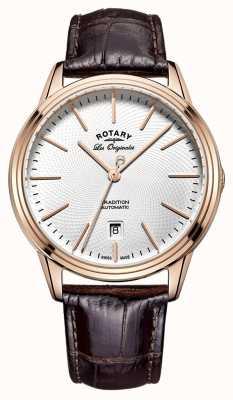 Rotary 男装les originales传统棕色皮革 GS90164/02