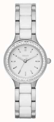 DKNY 女人陶瓷钢带白色表盘 NY2494