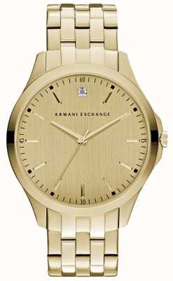 Armani Exchange 男士汉普顿时尚金色表盘 AX2167