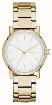 DKNY 女人圆形白色表盘金色表带 NY2343