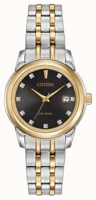 Citizen 女式11钻石双色不锈钢 EW2394-59E