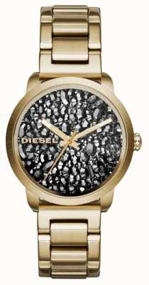 Diesel 女子镀金不锈钢表带图案表盘 DZ5521