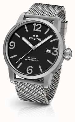 TW Steel 男士特立独行的计时码表网带黑色表盘 MB13