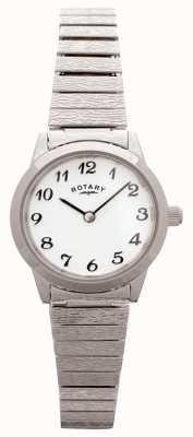 Rotary 女式可膨胀不锈钢白色表盘 LBI0761