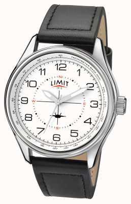 Limit 男士飞行员黑色表带白色表盘 5616.01