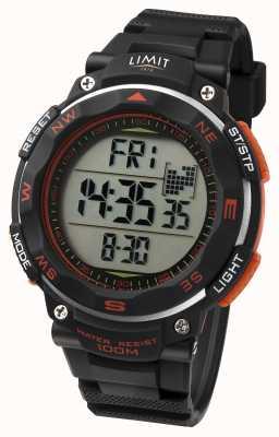 Limit 男士运动手表黑色表带橙色细节 5485.66