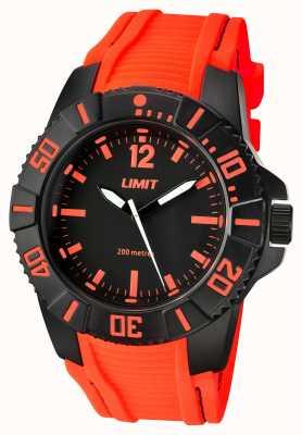 Limit 男士活跃的橙色表带黑色表盘 5547.02
