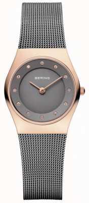 Bering 女式灰色网布表带灰色表盘 11927-369