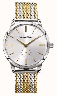 Thomas Sabo 女人魅力精钢双色钢表带银色表盘 WA0272-282-201-33