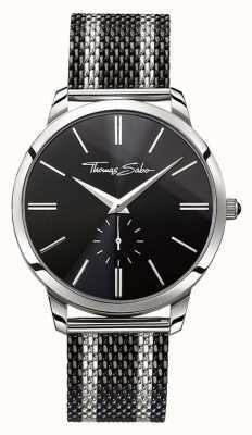 Thomas Sabo 男士反叛精神双色钢网带黑色表盘 WA0267-280-203-42