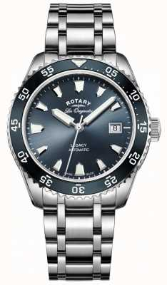 Rotary 男士蓝色表盘不锈钢表带 GB90168/05