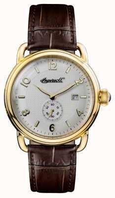 Ingersoll 1892年新款英格兰棕色真皮白色表盘 I00803