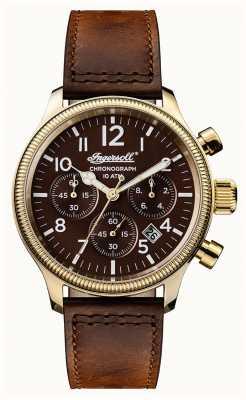 Ingersoll 男士们发现apsley棕色真皮表带棕色表盘 I03802