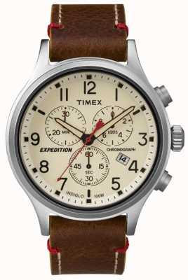Timex 男装侦察计时码奶油拨号 TW4B04300