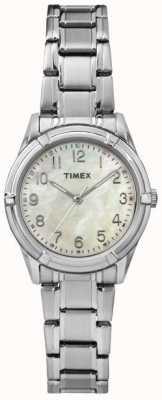 Timex 女人easton大道珍珠表盘钢带 TW2P76000