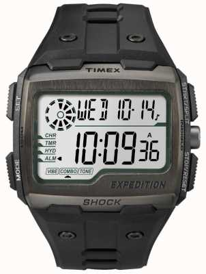 Timex 男士电网震动报警计时码表全黑 TW4B02500
