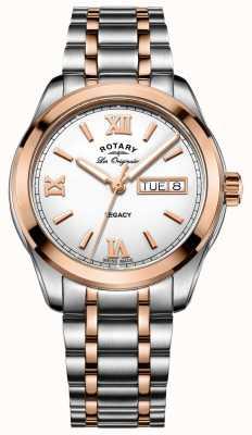 Rotary 男士两音调遗产不锈钢手表 GB90175/06