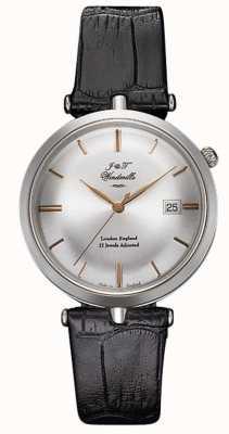 J&T Windmills 男士螺纹机械手表925纯银玫瑰金 WGS10001/06