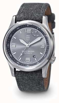 Elliot Brown 男士tyneham灰色表带灰色表盘显示表底盖 305-D02-F01