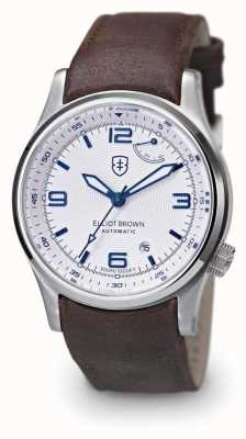 Elliot Brown 男士tyneham棕色真皮表带白色表盘 305-004-L14