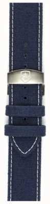 Elliot Brown 男装22毫米洗蓝色帆布展开只表带 STR-C01