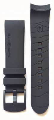 Elliot Brown 仅限男士 22 毫米黑色橡胶黑色扣带 STR-R08