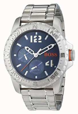 Hugo Boss Orange 男士雷克雅维克不锈钢表链蓝色表盘 1513424