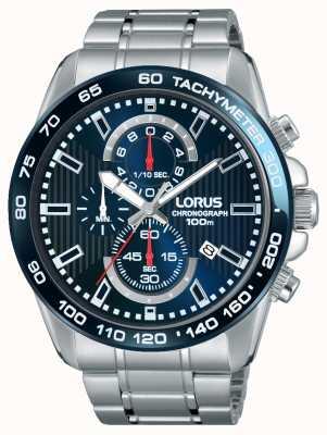 Lorus 男士chronogaph不锈钢蓝色表盘 RM375CX9
