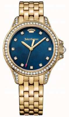 Juicy Couture 女士马利布金色不锈钢蓝色珍珠贝母 1901492