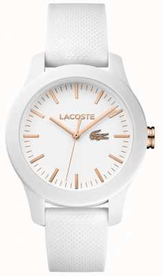 Lacoste 女装12.12白色橡胶表带白色表盘 2000960