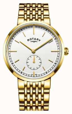 Rotary 男士坎特伯雷金色不锈钢白色表盘 GB05062/02