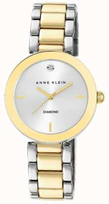 Anne Klein 女式两色调手链银色表盘 AK/N1363SVTT