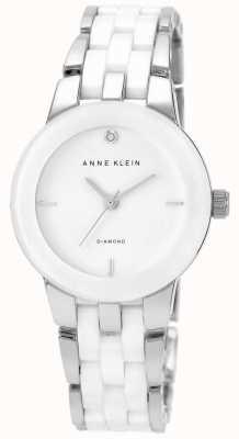 Anne Klein 女装白色陶瓷表带白色表盘 AK/N1611WTSV