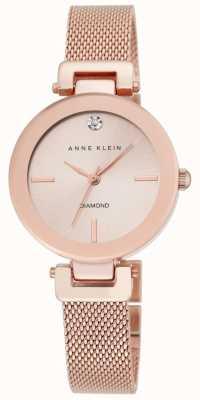 Anne Klein 女式玫瑰金网状玫瑰金表盘 AK/N2472RGRG